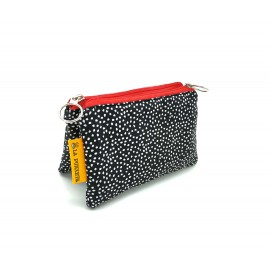 Monedero Mini Lunares Negro