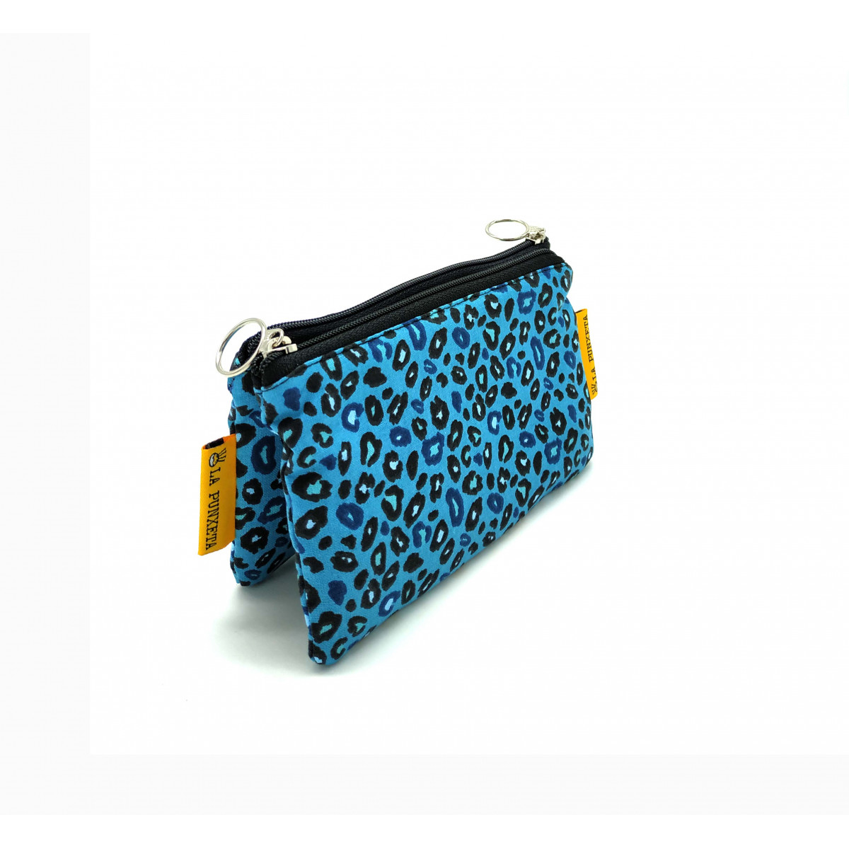 Monedero Leopardo Azul